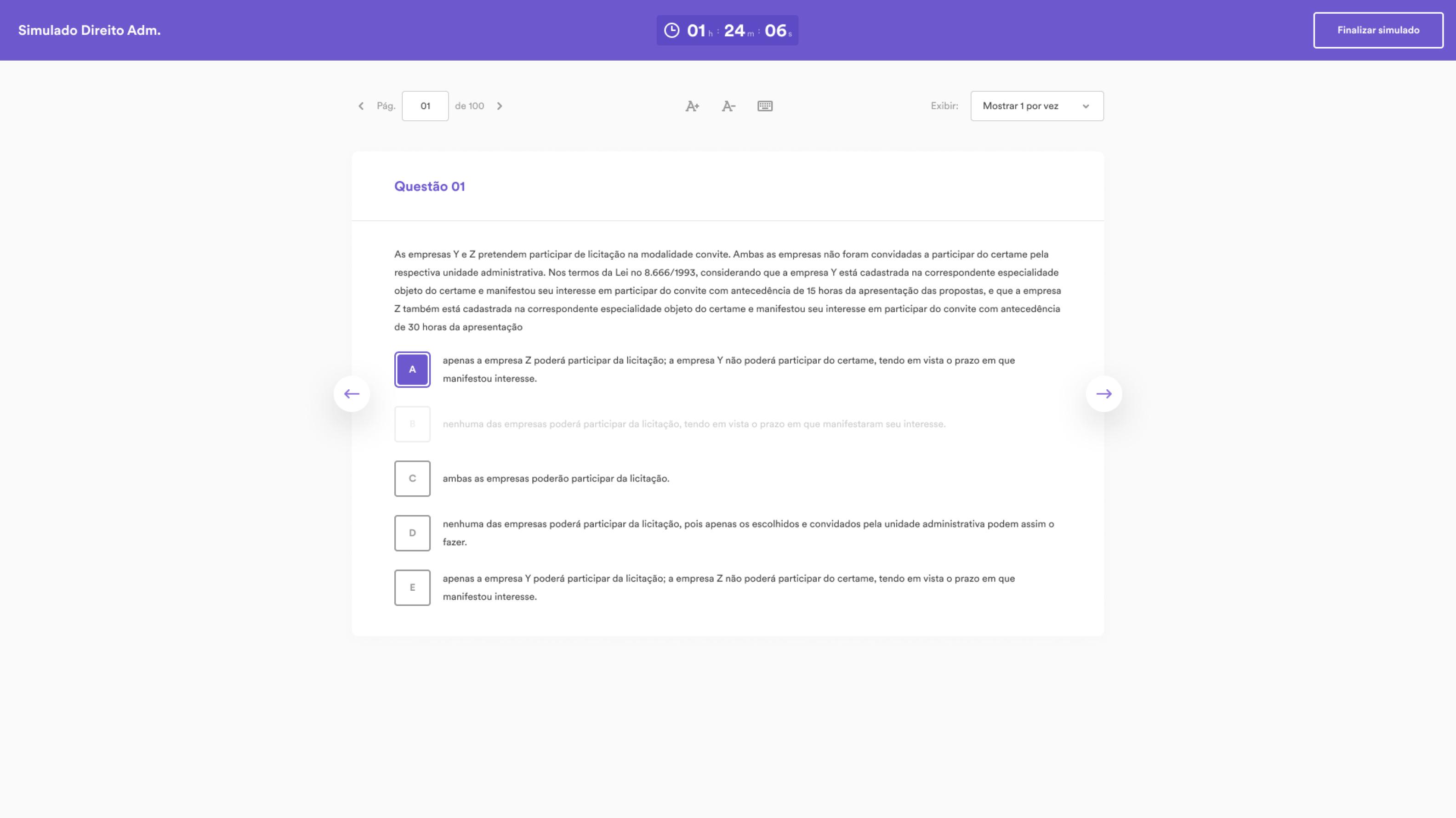Imagem de funcionalidade da plataforma